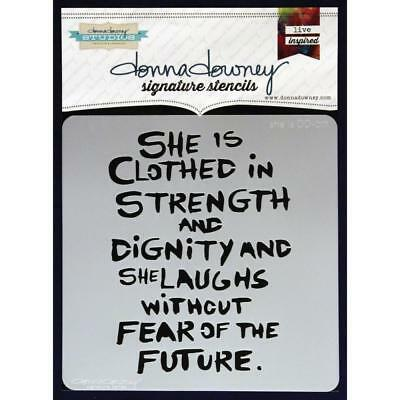 NEW Donna Downey Signature Series Stencils - She is DD017