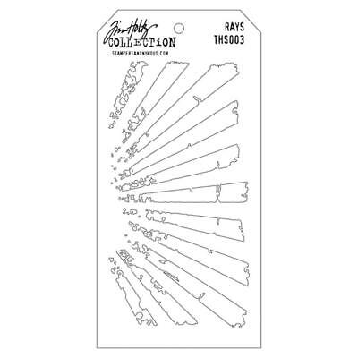 NEW Tim Holtz Stampers Anonymous - Layering Stencils - Rays
