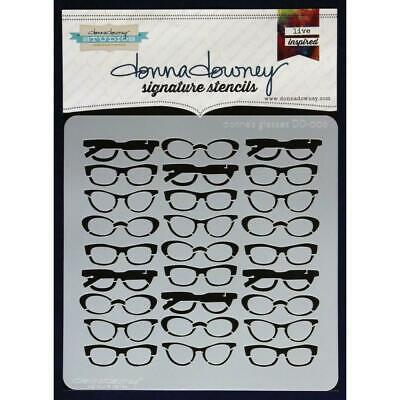 NEW Donna Downey Signature Series Stencils - Donna's Glasses, DD006
