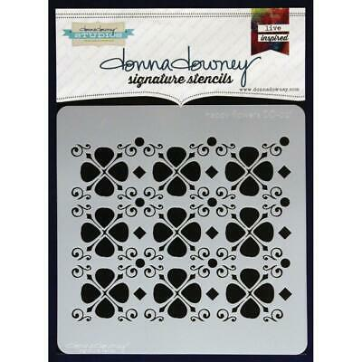 NEW Donna Downey Signature Series Stencils - Happy Flowers, DD021