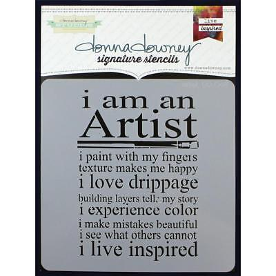 NEW Donna Downey Signature Series Stencils - Artist