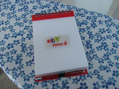 EBAY Stores Spiral Bound Notepad Old Logo with Pen NEVER USED COLLECTIBLE