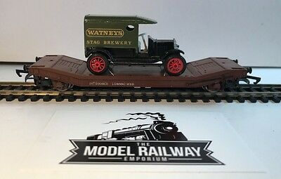 Wrenn - 00 Gauge - Lowmac Brown Freight Flatbed W/load - Unboxed Bargain (Wr)