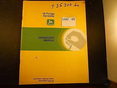 LotJ 46: John Deere Operator's Manual 38 Forage Havester