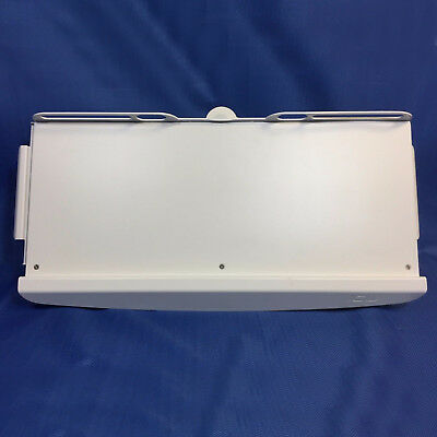 ICW Dental Post Mount Adjustable Keyboard Shelf w/ Left and Right Slide Out Tray