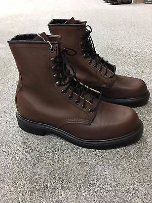 NEW Men's Red Wing Lace Up 8 Inch Brown Leather Soft Toe Boot #953