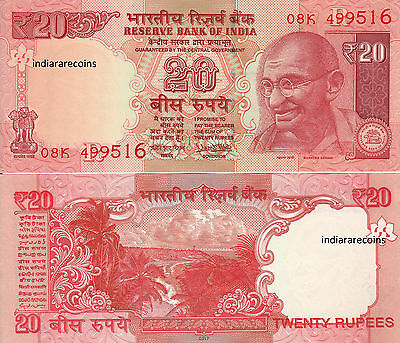 INDIA 20 RS New Sign PATEL R Inset 2017 Bank Note Paper Money UNC NEW