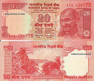 INDIA 20 RS Offset Printing Rajan L Inset 2016 Bank Note Paper Money UNC NEW