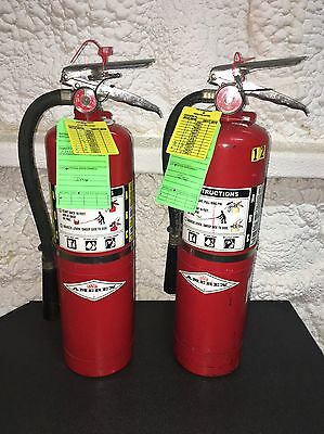 Set Of 2 Fire Extinguisher ABC 10lb #10 New Certified Tag