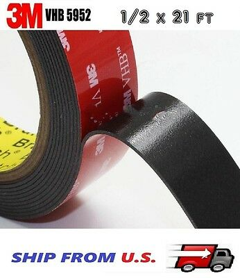 "3M VHB 4905 8/'X1/"" Double Sided Clear Acrylic Foam Automotive Attachment Tape"
