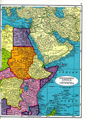 Northeastern Africa Map and Southern Africa Map 1960s Colonial Rule Cram Atlas