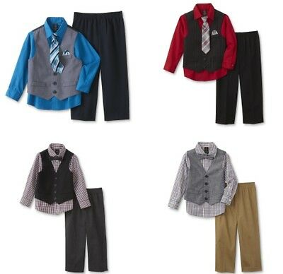 NWT Dockers Infant/Toddler Boys' Tie, Vest, Dress Shirt & Pants Suit 4 Pc Set