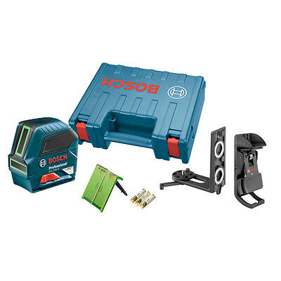 BOSCH Power Tools GLL100G Green Beam Self-Leveling Cross-Line Laser