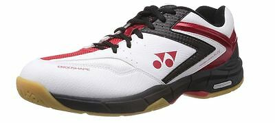 YONEX SHB SC2iEX BADMINTON SHOE - WHITE BLACK RED RRP £60