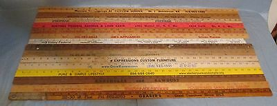 Lot of 15 Vintage Yardsticks Wood Wooden Ruler Advertising Lumber,Hardware