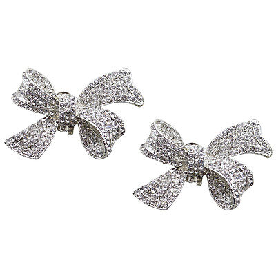"Jewelled Shoe Clips, Shoe Jewels, Bridal Prom Shoe Accessories (1 Pair) ""Zoe"""