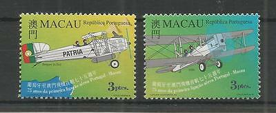 Macau 1999 Portugal-Macao Flight Sg,1093-1094 U/m N/h Lot 152E