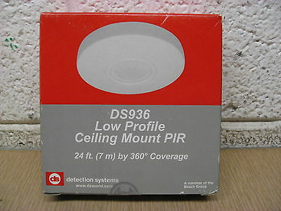 New Bosch Detection Systems DS936 Ceiling Mount PIR Passive Infrared Detector