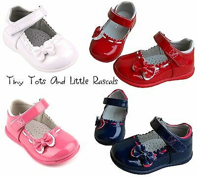 Toddler Girls Patent Shoes Sandals Leather Insole Occasion Party Size UK 3 - 8