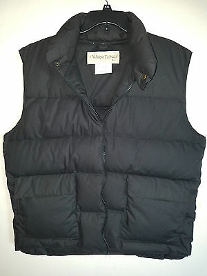 Mens Down Puffer Vest Black Size Large Work New No Tags Warm Things Very nice!