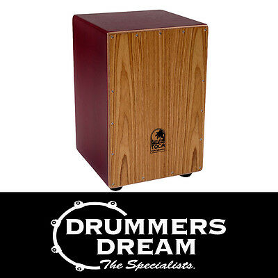 Toca Coloursound Red Cajon  TOCTCCJRD Percussion drum box Brand New