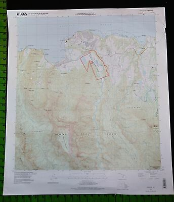 Hanalei Hawaii 1996 Topographic Map 24x28 Inches