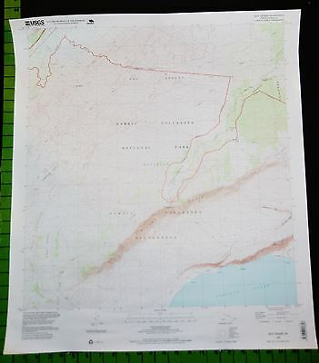 Volcanoes National Park Hawaii 1995 Topographic Map 24x28 Inches