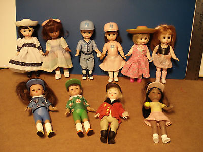 "Mme. Alexander for McDonalds ""Come Play"" 2005, all dolls. 8 Girls + 2 Boys. Nice"