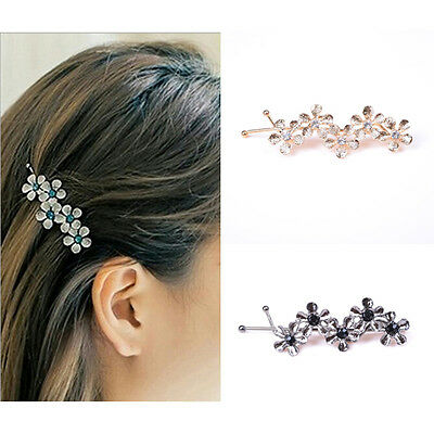Women Girls Rhinestone Headwear Hair Clips Floral Hairpin Hair Accessories Nice