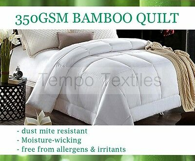 BAMBOO Quilt Doona NATURAL Soft All Season Single/Double/Queen/King/Super King
