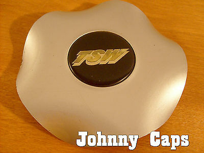 TSW Wheels Silver Center Caps #15  Silver Pop-In Center Cap with Gold Letter (1)