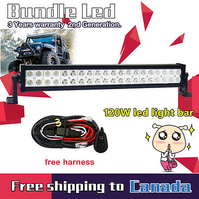 24 inch 120W LED Work Light Bar Combo Beam Off Road Truck Boat SUV 4X4 Jeep 20