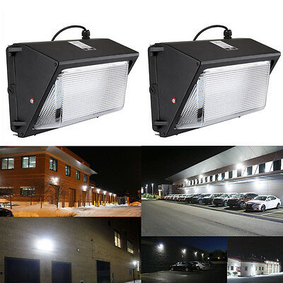 2pcs LED Wall Pack 70W Fixture Light Energy Efficient Factory Wallpack Lamp