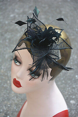 Womens Sinamay Fascinator Cocktail Hat Church Party Wedding Kentucky derby A355