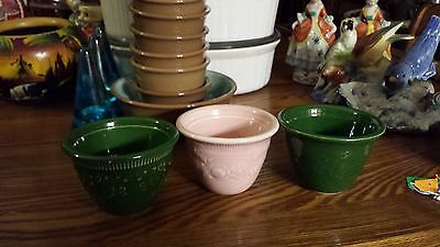 Vintage Taylor Smith Taylor - Tst - Oven Serve Ware Made In Usa Custard Cups