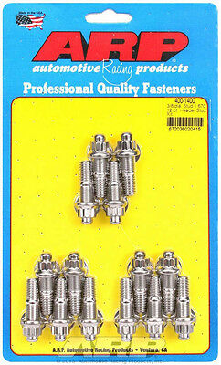 ARP Header Stud 1.670 in 12 Point Nuts Polished SBC 14 pc P/N 400-1400