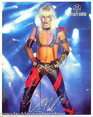 Vince Neil 8x10 Lithograph w Bio Motley Crue Shout At The Devil