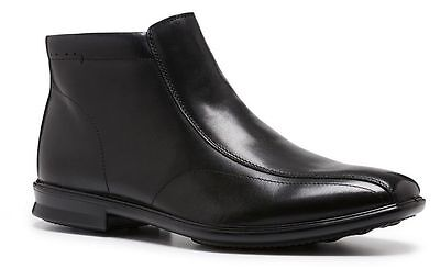 Mens HUSH PUPPIES CHRIS Black WIDE FORMAL/DRESS/WORK/CASUAL/LEATHER SHOES BOOTS