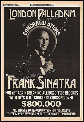 FRANK SINATRA - London Palladium__Original 1975 Trade AD / poster__concert promo