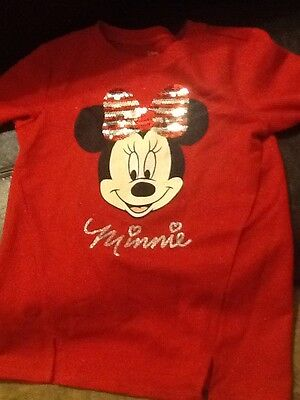 Minnie Mouse Red Sleepwear Top Size Large (10-12) Girls New