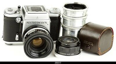 Camera Pentacon Six Lens Zeiss Biometar 2.8/80mm Converter  2X