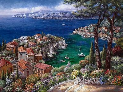"""COTE D'AZUR"" by SAM PARK!  L/E GICLEE ON CANVAS!  21 x 28! PERFECT!"