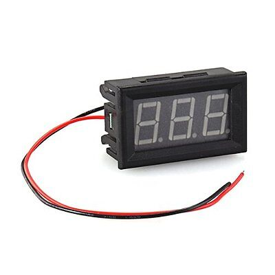 Meter Mini Panel 7-120V DC Voltmeter Tension Show 20mA Two Wires Yellow U7J6