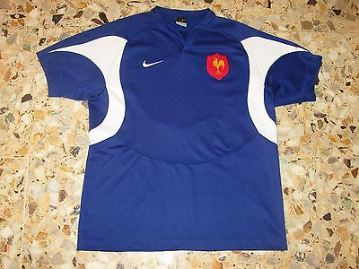 maillot shirt jersey ancien  EQUIPE DE FRANCE RUGBY 2005-2006  NIKE
