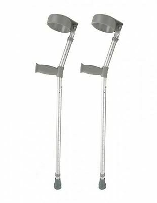 Height Adjustable Elbow Crutches Double Adjustable Crutches Comfy Handle
