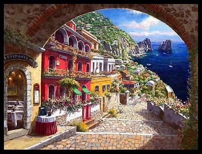 """""""ARCHWAY TO CAPRI"""" by SAM PARK!  L/E GICLEE ON CANVAS! 30 x 40 PERFECT!"""