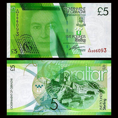 Gibraltar 5 Pounds, 2011, QEII, P-35, UNC AAA Series