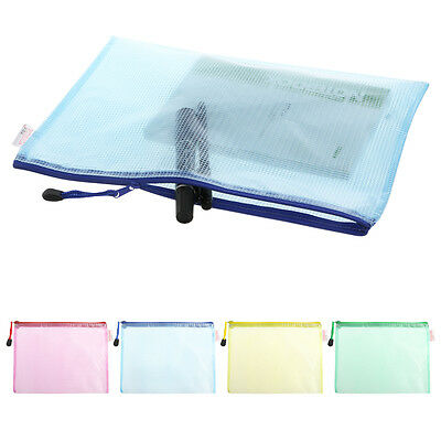 Document Bag A4 Size Zipper File Pocket Storage Office Supply Case Waterproof