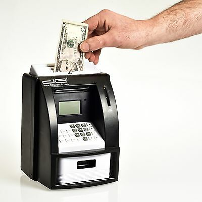 Electronic Coin Note Money Counting ATM Box Saving Safe Digital Piggy Bank NEW