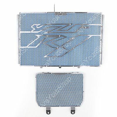 Radiator Grille Guard Cover and Oil Cooler Guard Fit 15-16 YAMAHA YZF R1 Blue AU